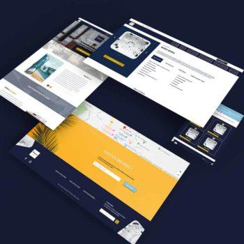 Première maquette de site internet réalisé pour Heaven Spa