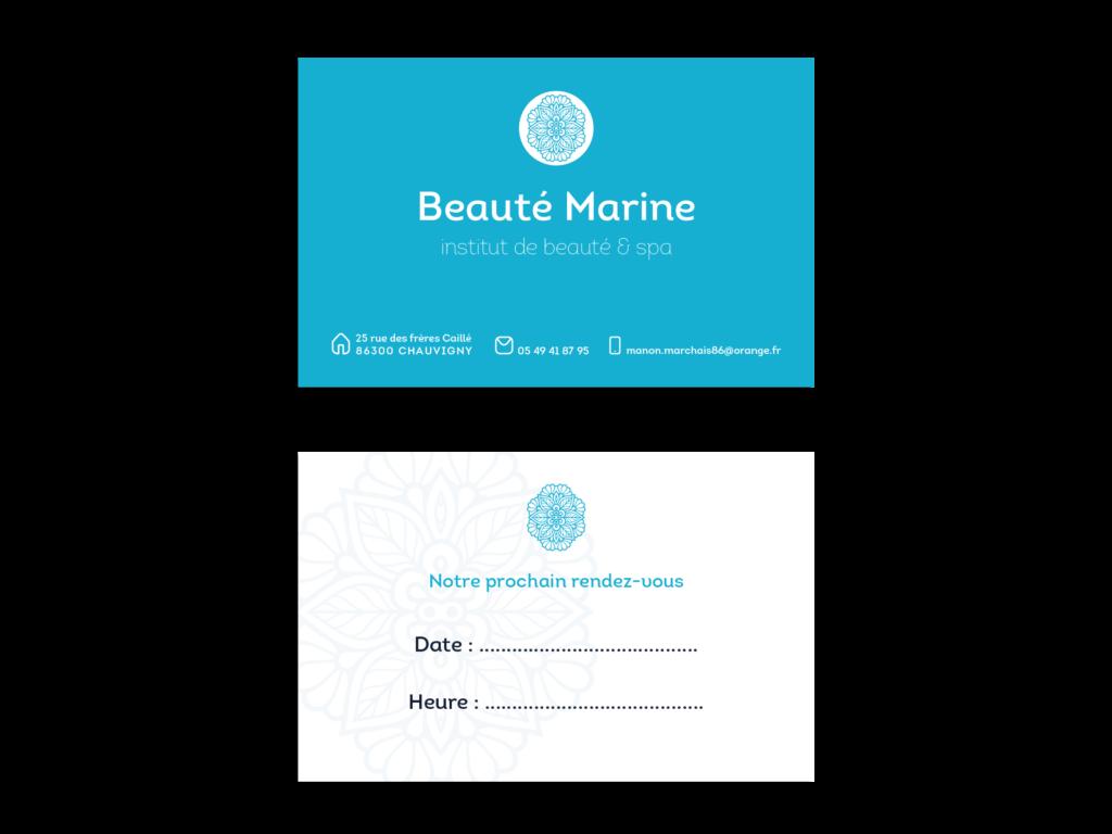Cartes de visite institut de beauté