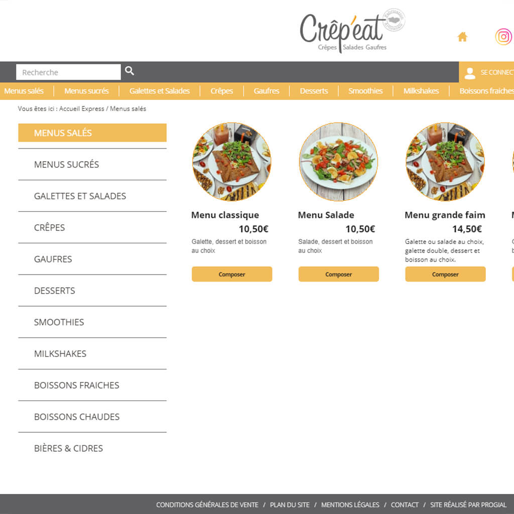 Rayons Click & Collect Crêp'eat