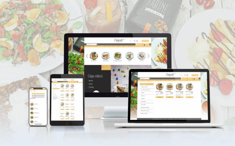 Présentation du site Click & Collect Crêp'eat