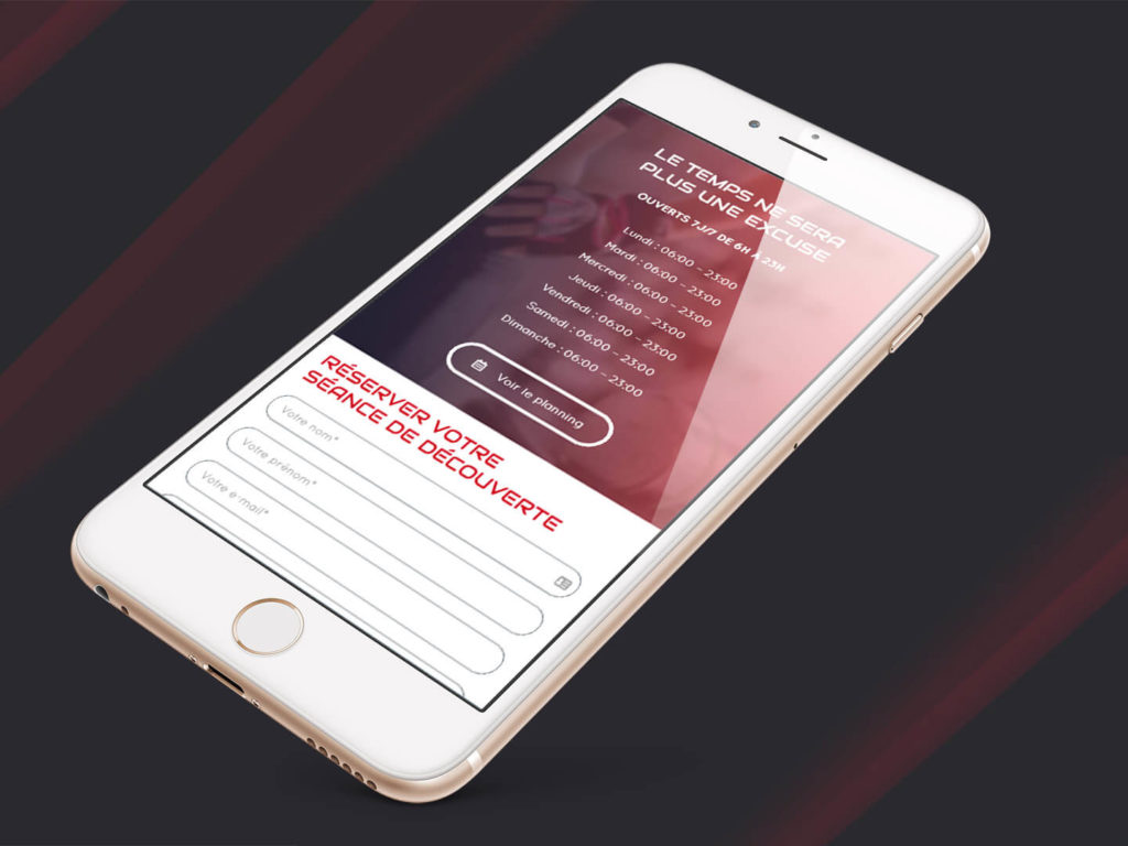 Site breakfit sur mobile