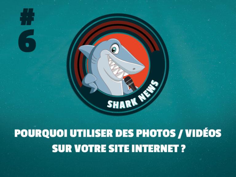 Shark News 6 Pourquoi utiliser des photos / Vidéos sur votre site internet