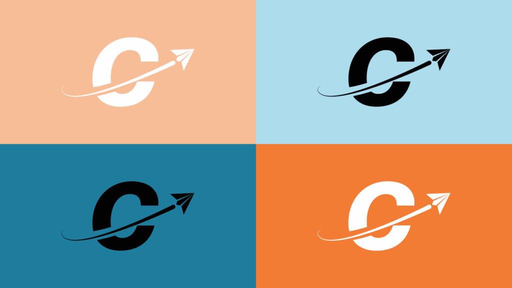 icone avec uniquement le C de CSE et l'avion, déclinaison du logotype