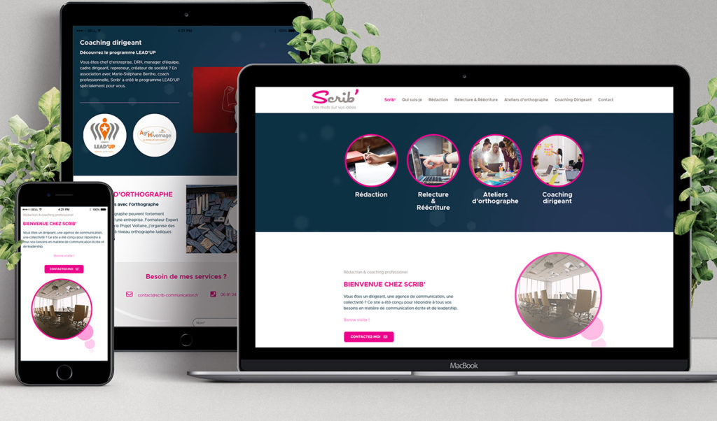 Site web Scrib Communication
