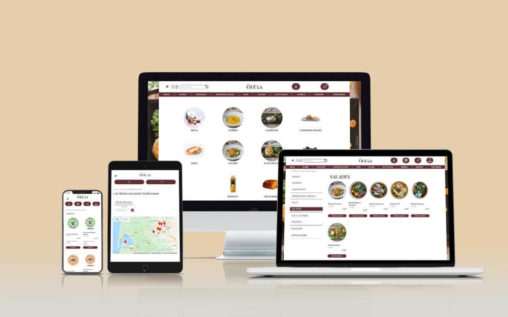 Mockup présentation du site Click & Collect Pâtisserie Opéra