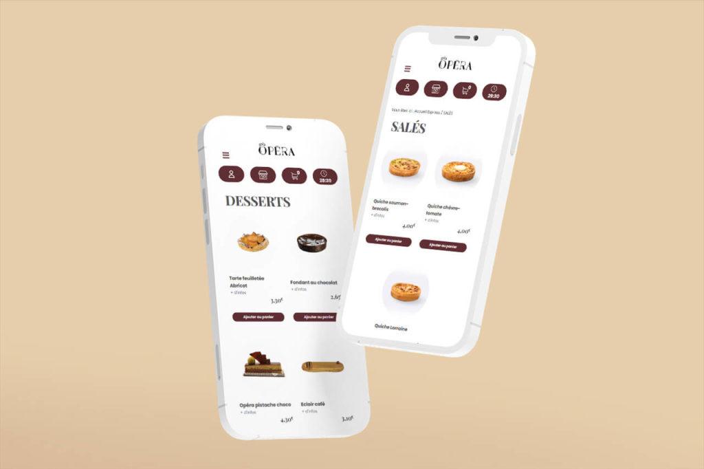 mockup iphones 12 présentation Pâtisserie opéra