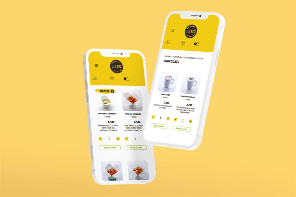 mockup de deux iphones