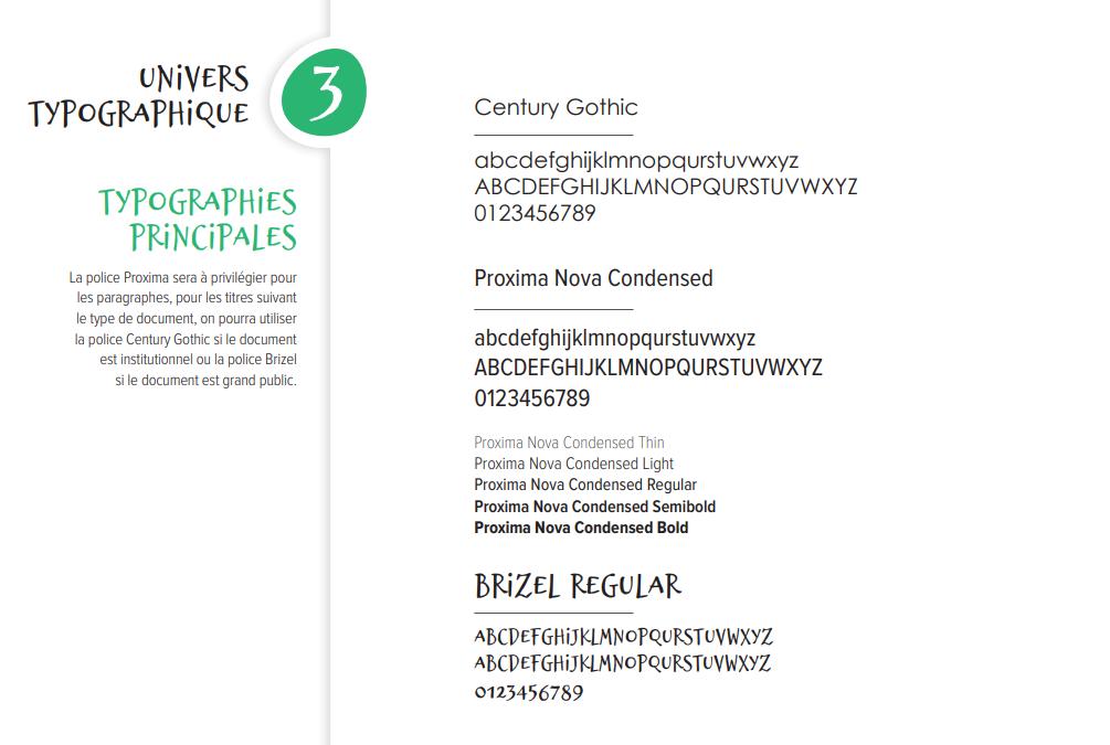Exemple d'un univers typographique
