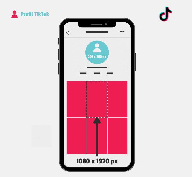 Dimensions photos et vidéos sur TikTok