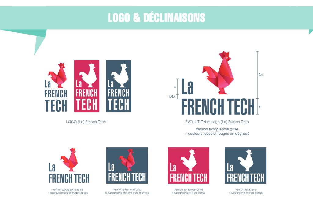logo et déclinaison de la French Tech