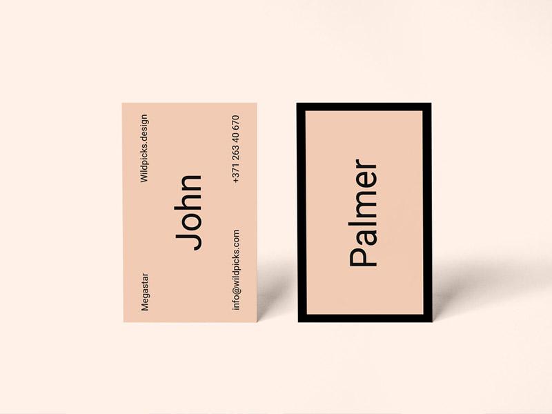 carte orange minimaliste