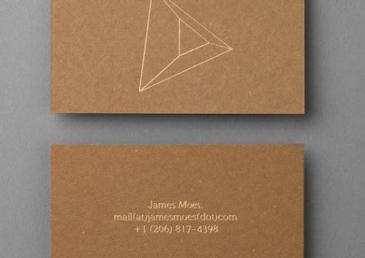 carte marron et or minimaliste