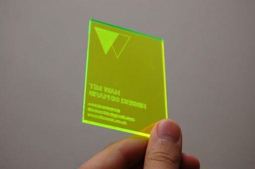 carte translucide jaune