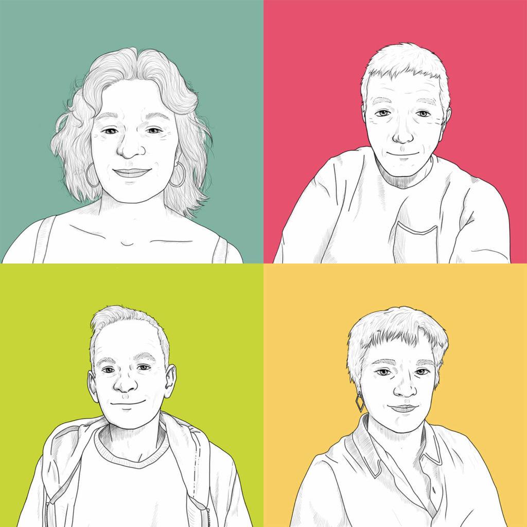 illustration 4 collaborateurs ATEV